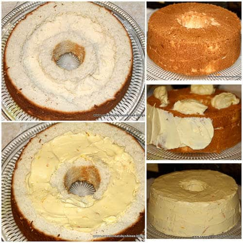 Unbelievably light and airy angel food cake filled with sweet and citrusy orange cream! Such a beautiful combination!