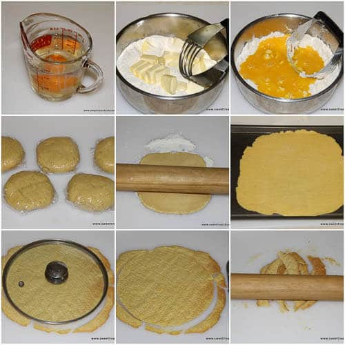 Napoleon cake- step by step photo