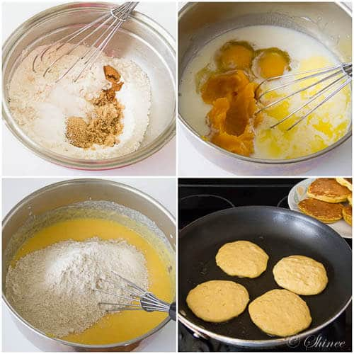 Extra fluffy pumpkin pancakes- step by step photo tutorial