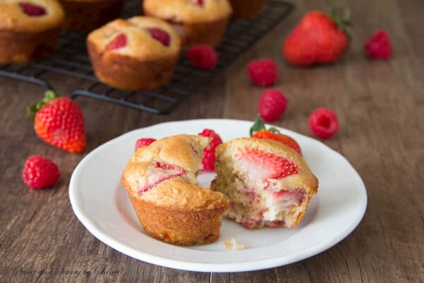 Bursting with juicy fresh berry flavor, these semi-skinny muffins will be one of your favorites right away.