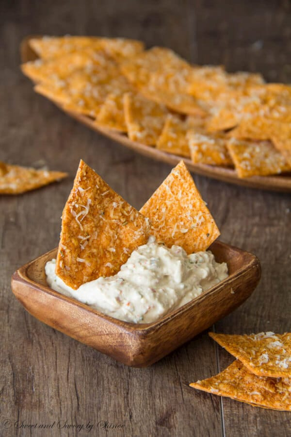 homemade spiced tortilla chips crispy slightly spicy these chips are so addicting www