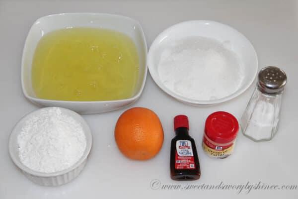 Angel Food Cake- Ingredients
