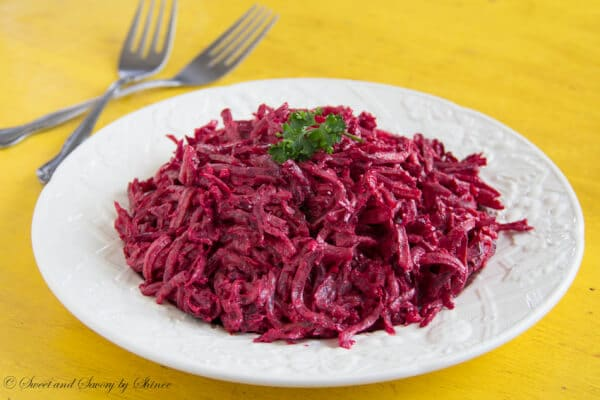 Creamy beet salad is absolutely delicious and a great alternative to a regular beet salad. Cooked al dente, the roasted beets bring nice texture and flavor!