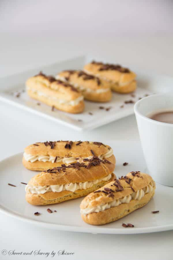 Mother's Day recipe ideas- Tiramisu Eclairs