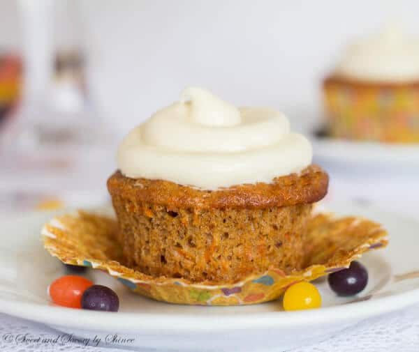 My ultimate carrot cupcakes are moist, rich and mildly spiced, topped with sweet and tangy cream cheese frosting. Nothing more, nothing less. Just perfect!