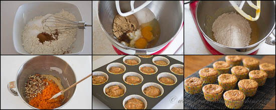 Carrot Cupcakes - Step-by-step instructions