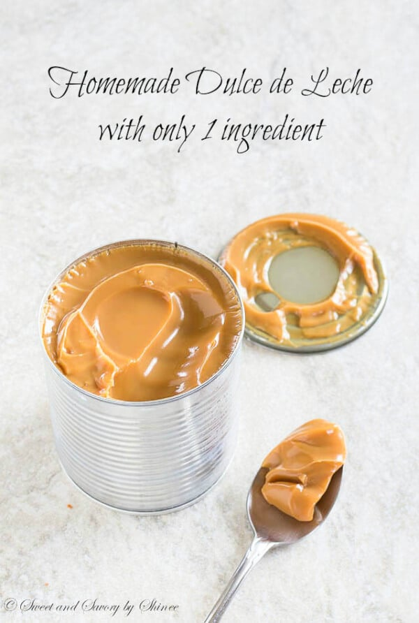 Homemade Dulce de Leche with only 1 ingredient!