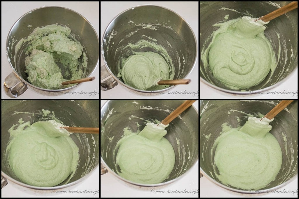 Mint French Macarons- Step 5