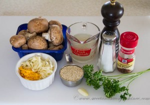 Quinoa Stuffed Mushrooms Ingredients
