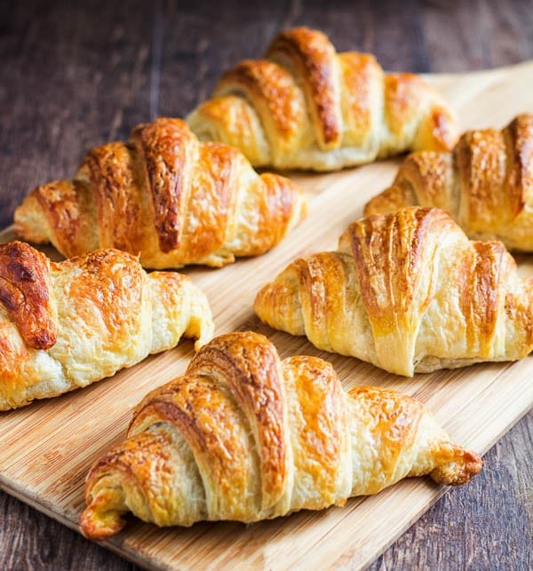 Why bother with homemade croissants? Because they are light and airy goodies with ultra buttery crust, cotton soft interior and beautiful golden color! Plus, you get a huge ego boost looking at your beautiful creations.