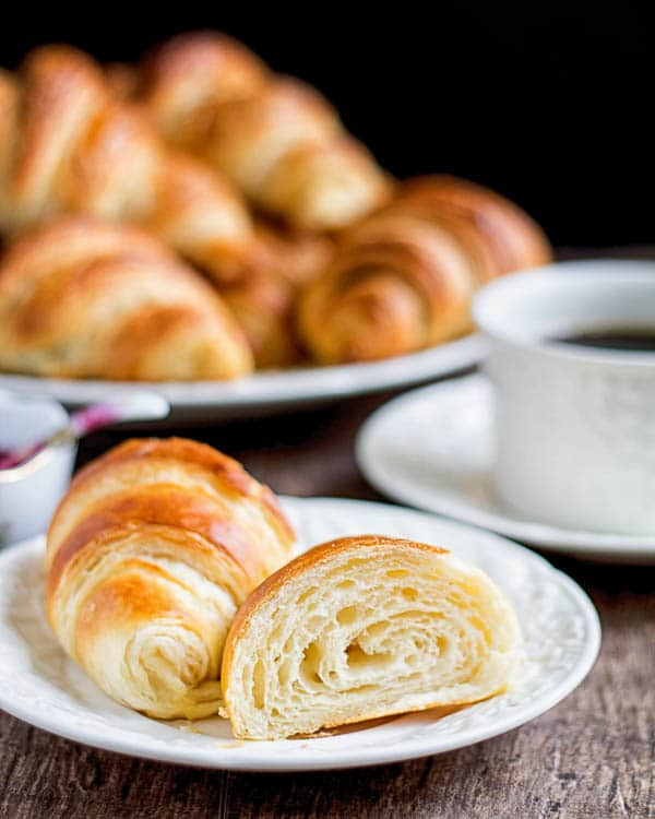 Buttery homemade croissants aren't as hard as you may thing. Yes, it takes a little bit of elbow grease, but nothing you can't do. And the result is so worth it!