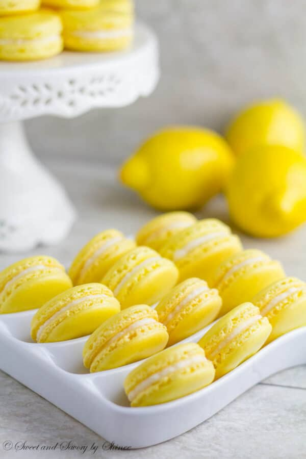Lemon French Macarons Sweet Savory