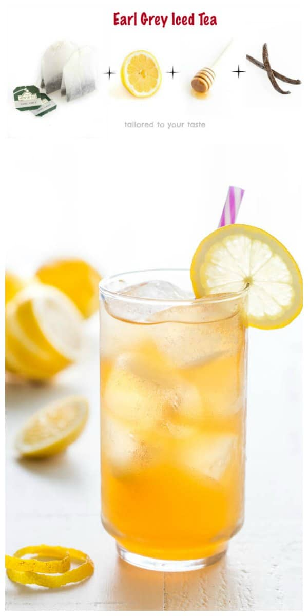 Bright, refreshing and citrusy, this earl grey iced tea is easy to customize and such a thirst-quencher for a crowd!