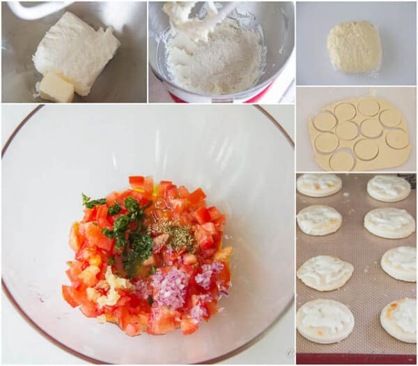 Mini Bruschetta Pizzas - Step-by-step
