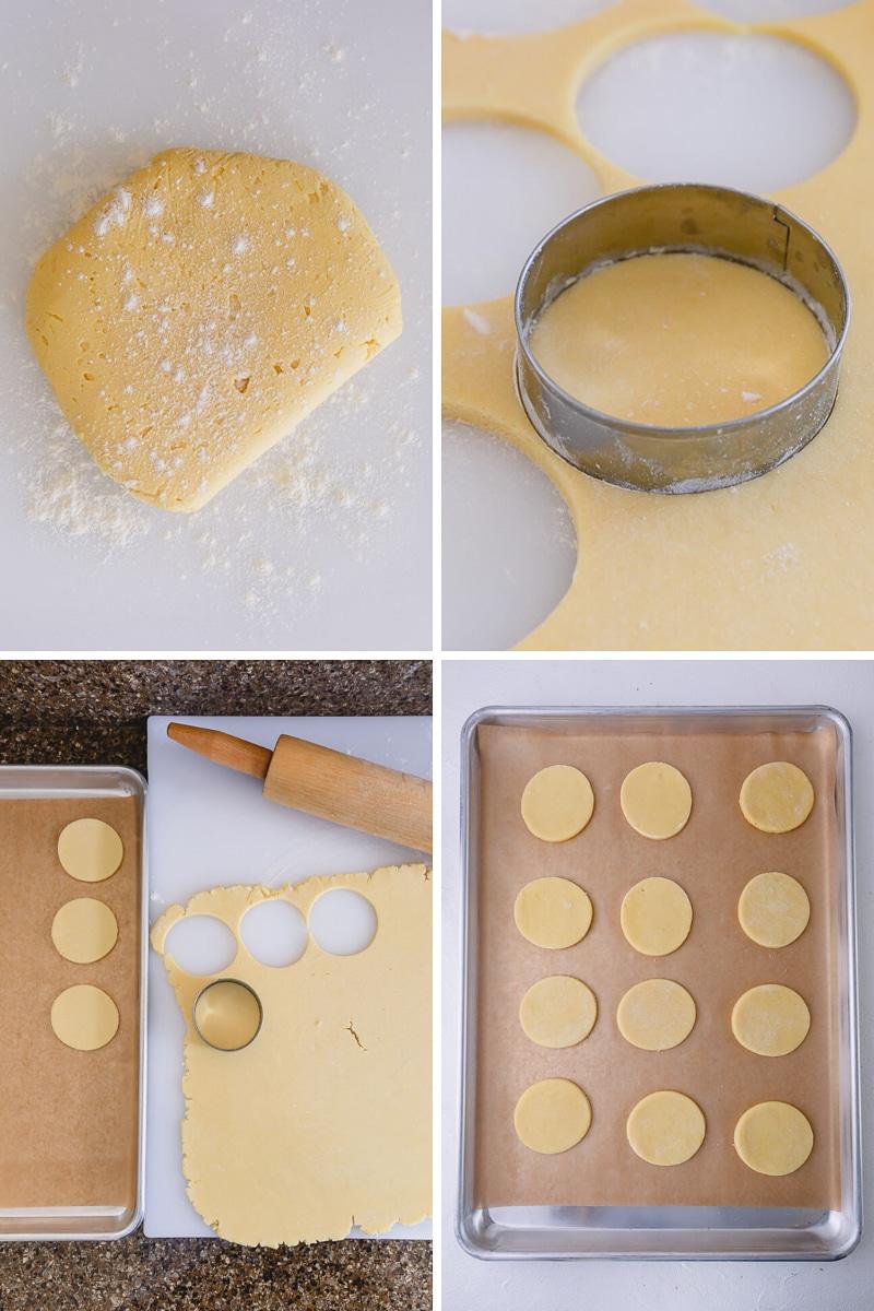 Shaping and baking sugar cookies is easy. #sugarcookies
