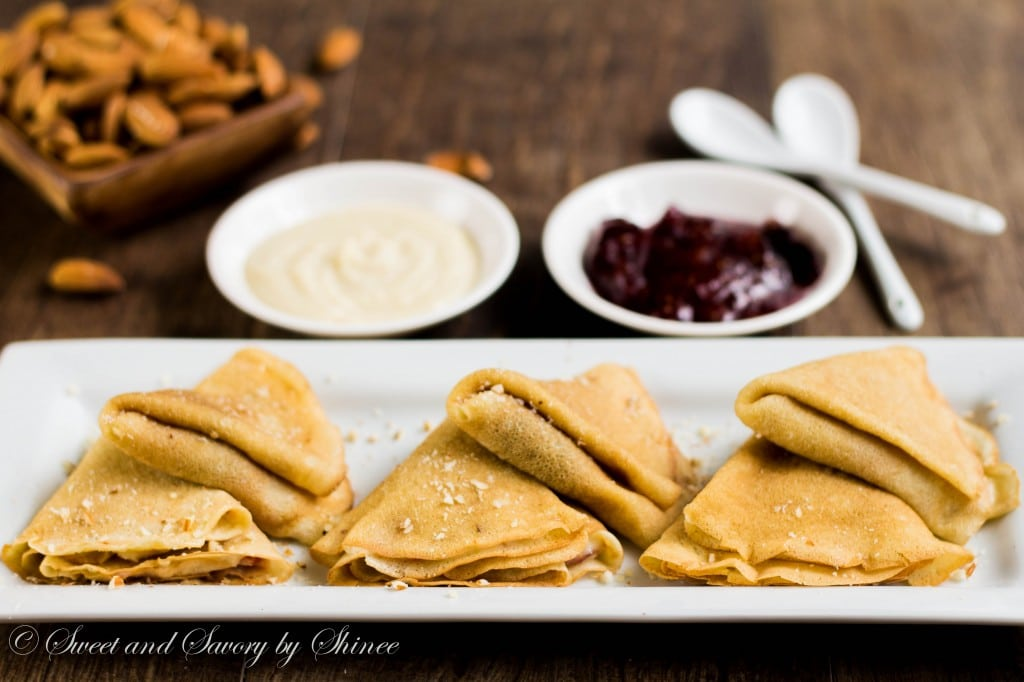 Taking my basic crepe recipe to the next level with almond and fig! Enjoy these delicious dairy-free almond fig crepes.