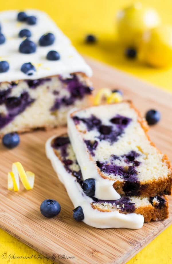 This blueberry lemon cake, loaded with fresh blueberries and glazed with sweet and tangy lemon cream cheese frosting, is light and tender, perfect summer treat!