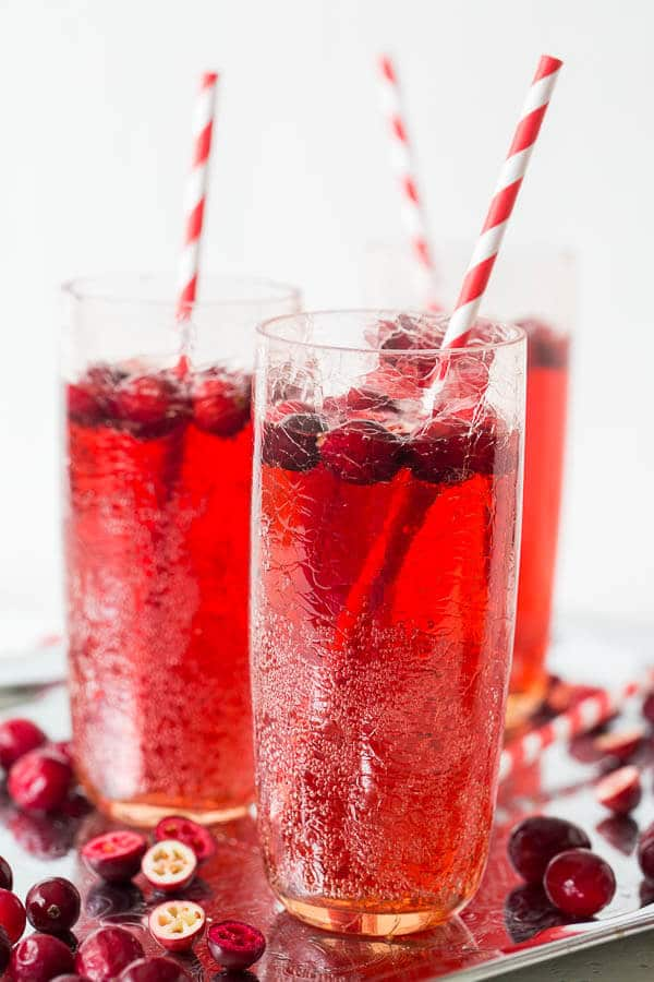 Sparkling and festive, this cranberry ginger ale punch is quite an effortless crowd-pleaser! Only handful of ingredients and just seconds to prepare!!
