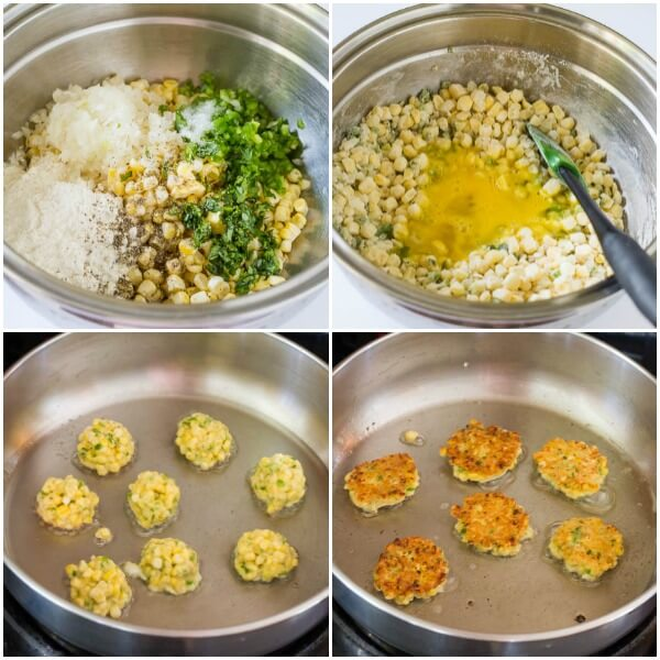 Corn Fritters - step by step