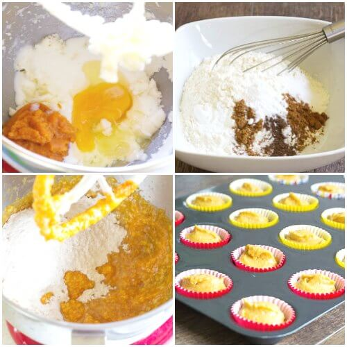 Mini pumpkin cupcakes, step-by-step