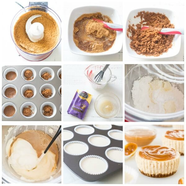 Chai latte no-bake mini cheesecakes, step by step photos