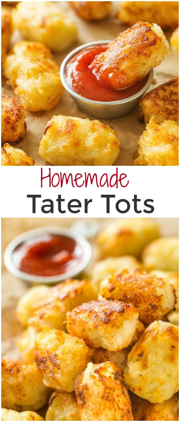 You need only 3 main ingredients for these fluffy, cheesy homemade tater tots. Baked or fried, these little bites are perfect snack for kids and adults alike!