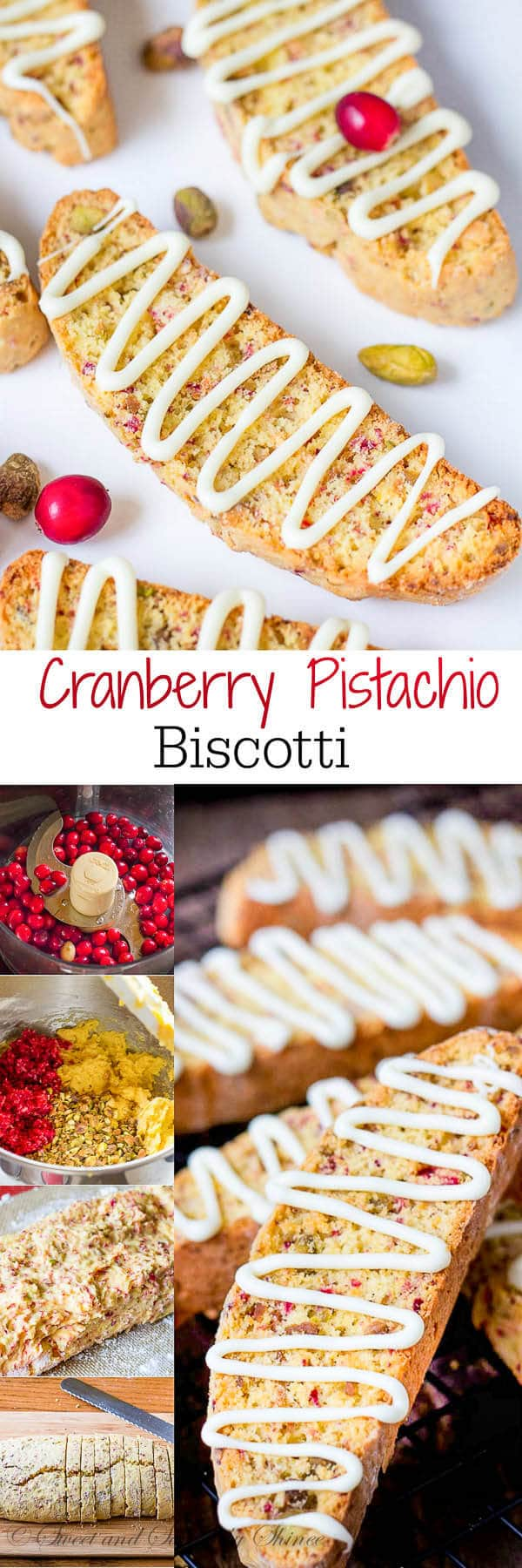 These cranberry pistachio biscotti are crunchy, but not rock-hard and oh-so-delicious dunked in your morning java! Perfect for Christmas cookie care packages too.