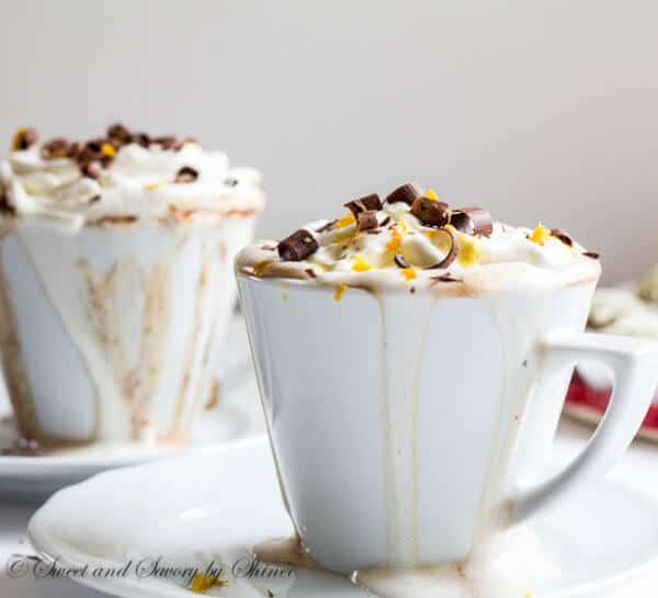 Your ultimate winter comfort drink made with whole milk, high quality chocolate bars and splash of orange liquor!