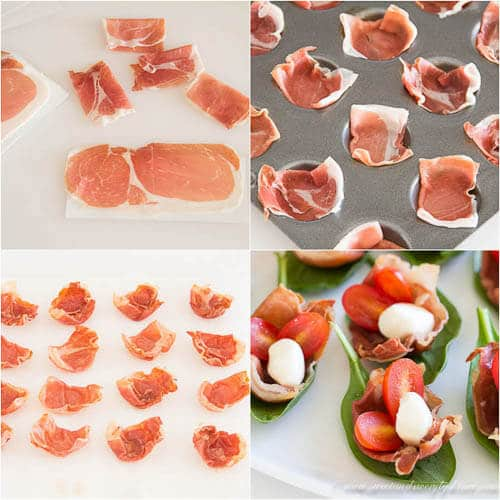 Prosciutto Cups- Step by step photo