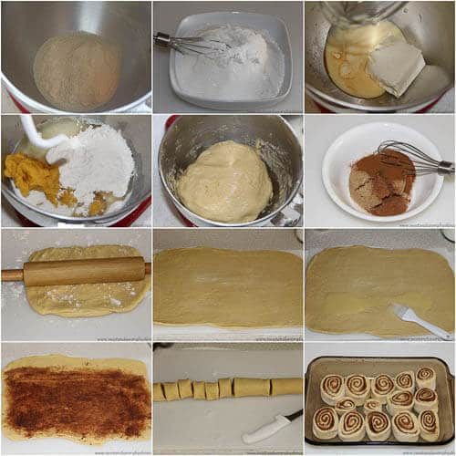 Pumpkin Cinnamon Rolls - step by step photo tutorial