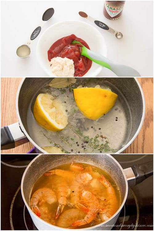 Shrimp cocktail- step-by-step directions