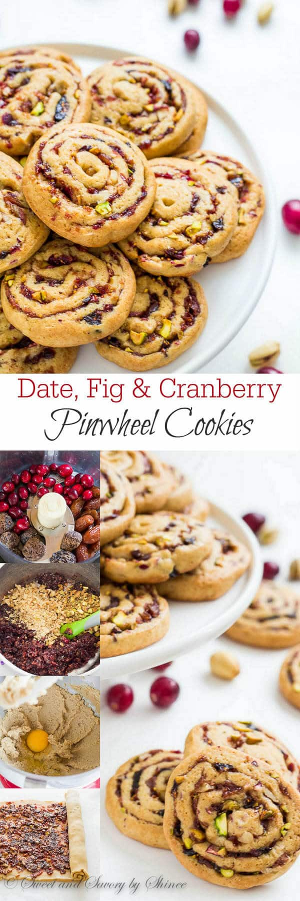 Learn how to make pinwheel cookies with my step-by-step photos. Soft and chewy cookies filled with sweet and fruity filling and crunchy nuts.
