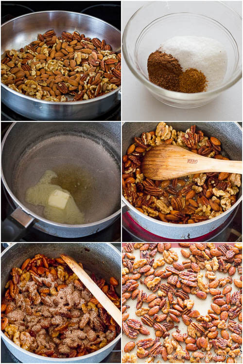 Super easy spiced nuts with a hint of warm fall spices and honey are great paired with your favorite brew, or even wine.