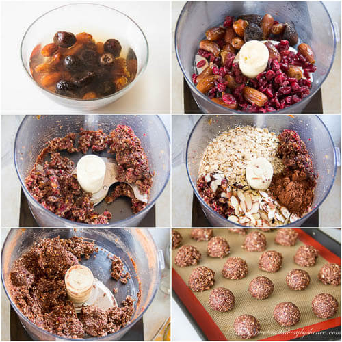 Almond Chocolate Energy Balls -step by step photo instructions