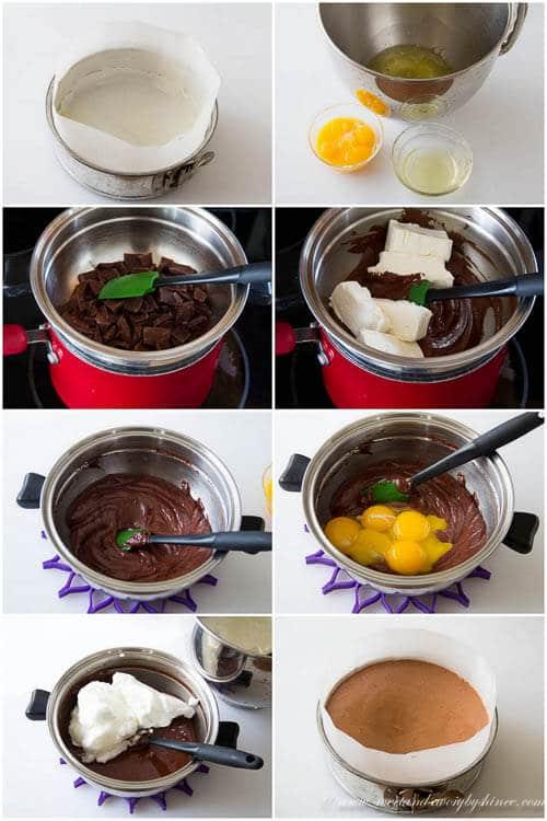 Chocolate Souffle Cheesecake recipe- step by step