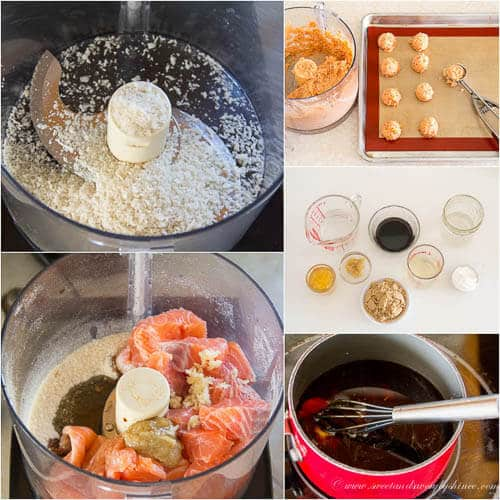 Teriyaki Salmon Meatballs recipe- step by step