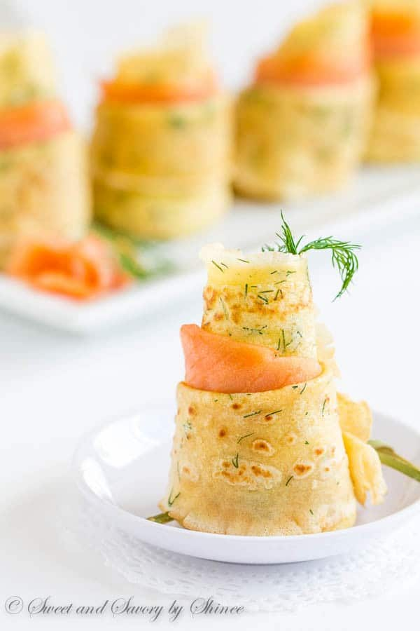 Mother's Day recipe ideas- Dill Crepes w-Smoked Salmon