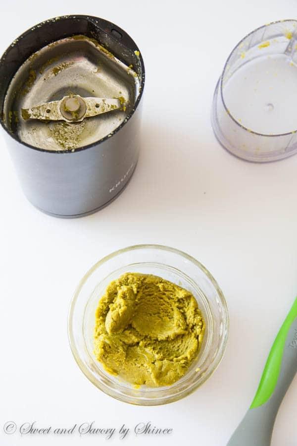 Super easy homemade pistachio paste. No more expensive jars, and more natural homemade goodness!
