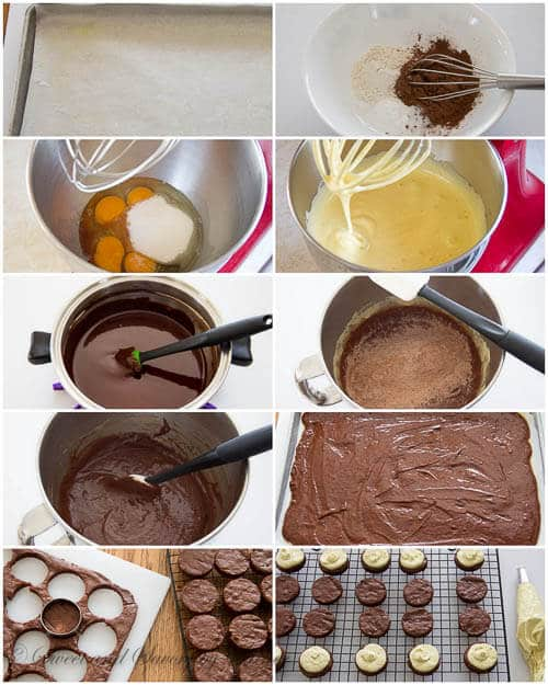 Mini chocolate layer cakes- step by step photos