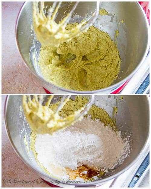 Pistachio buttercream- step by step photo directions