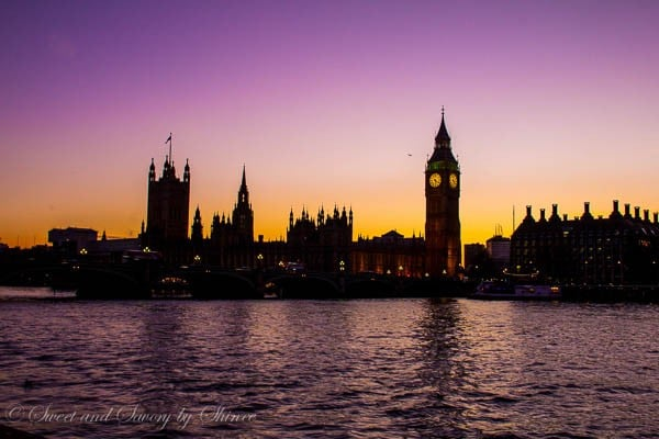 Travel Photo Journal- LONDON- Big Ben at Sunset
