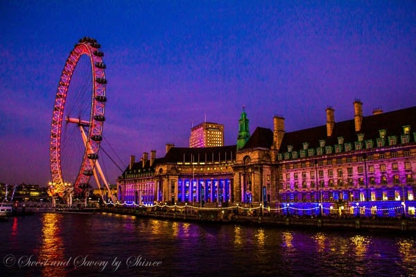 Travel Photo Journal- LONDON- London Eye at Sunset