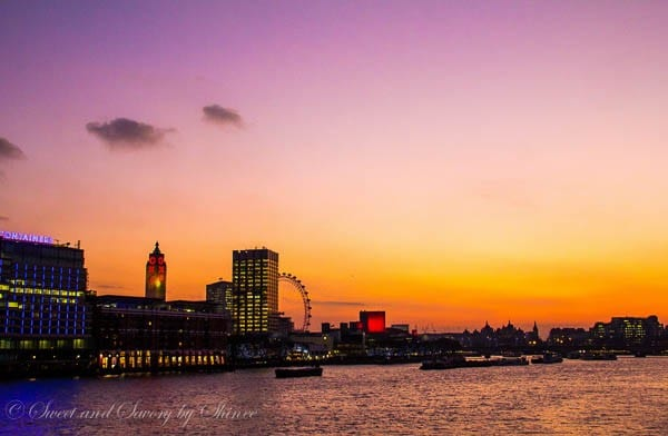 Travel Photo Journal- LONDON- Sunset over Thames River