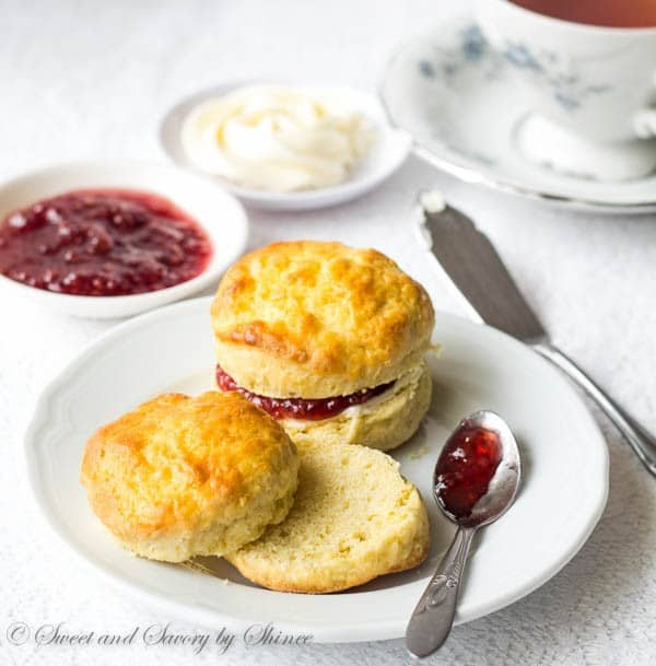 English Scones With Sweet Whipped Butter ~Sweet & Savory