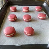 Red Velvet Macarons