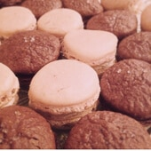 Chocolate Sea Salt Macarons
