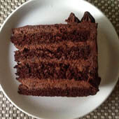 Supreme Chocolate Cake with Chocolate Mousse Filling