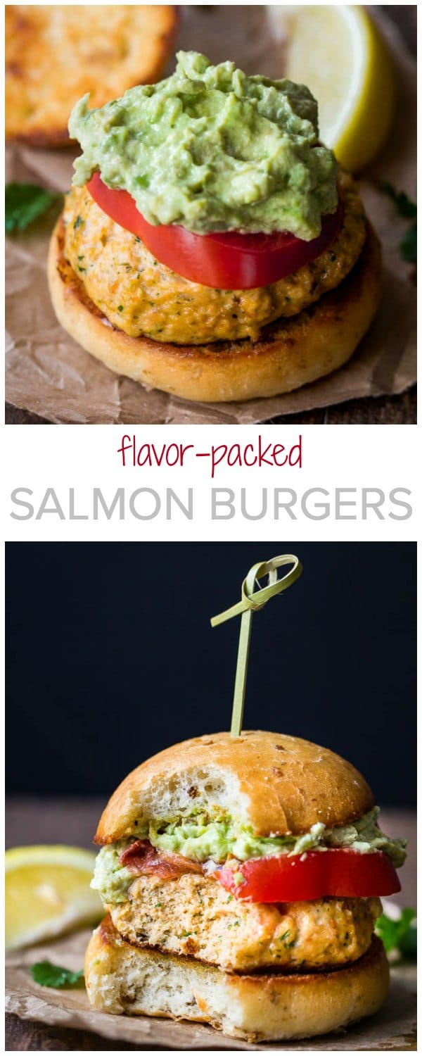 Packed with lots of texture and flavor, these mini salmon burgers are perfect for picnics, backyard gatherings and summer parties. Such an easy crowd-pleaser!