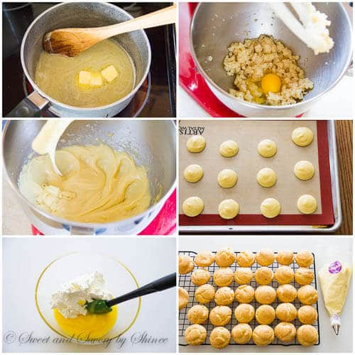 Lemon Creme Puffs- step by step photo tutorial