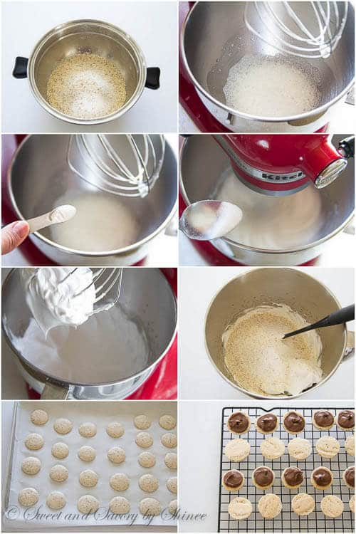 Chocolate Hazelnut Macarons - step by step photo tutorial